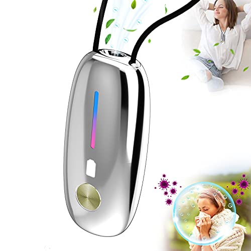 OPD A10S Wearable Air Purifier Necklace,Small Portable Air Purifier,100% No Static Electricity,for Car,Airplane,Office,Bedroom and Travel,Air Ionizer