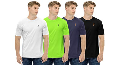 JJ TEES Mens Polyester Round Neck Tshirts (Size: XXL) (Pack of 4, Combo 5)