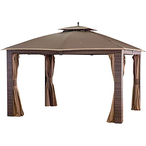ABCCANOPY 10X12 Replacement Canopy Roof ONLY FIT for Gazebo Replacement Top # L-GZ815PST-1,Brown