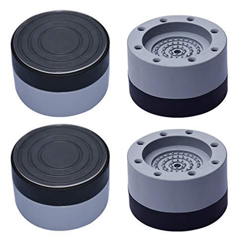 Guangcailun 4pcs rilievo del piede antiurto in gomma lavatrice pad piede della macchina Mat accessori per la casa del rumore Dpening Dryer antiscivolo, 3,5 centimetri