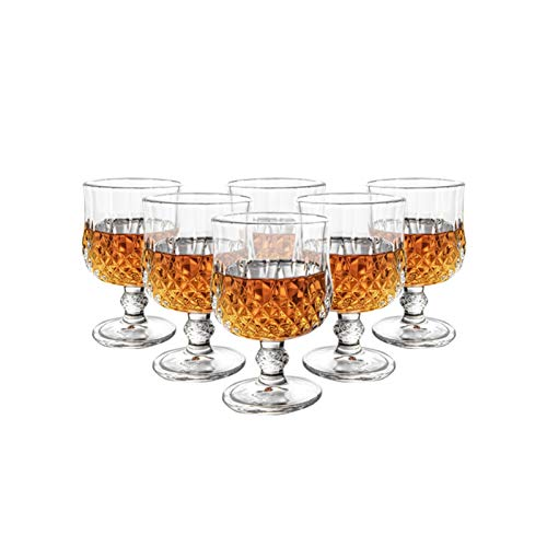 Yuansr Copas de Vino Tinto, Vidrio Claro, cristalería Elegante para Beber, Copas de Vino Tinto Plomo Libre cristalino Premium Vidrio (Conjunto de 6) (Size : Style 1)
