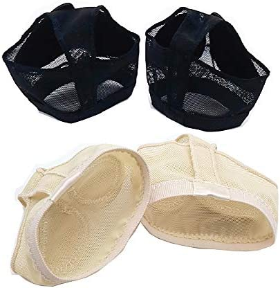 MIKIBANA Girls Lyrical Bare Foot Thong Dance Paws Pad Foot Dance Fitness Half Soles 2 Pairs product image