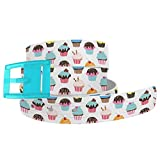 C4 Belts Food-Themed Belts for Men and Women (Cupcakes Belt With Baby Blue Buckle)