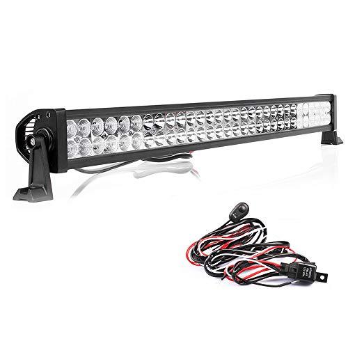 180W LED Phare de travail 12V 24V 17100lm Projecteur à réflecteur Work Light Bar Phare Lumière de travail Offroad SUV UTV ATV (34\