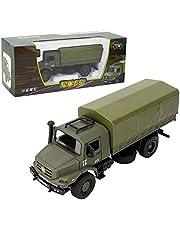 1:36 Vehículos de camiones militares, Aleación de vehículos fundidos a troquel Modelo de juguete militar de regalo para niños mayores de 3 años