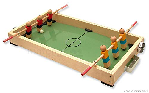 matches21 Tisch-Fußball Mini Kicker Tischkicker Holz Bausatz f. Kinder Lehrmittel Werkset Bastelset ab 12 Jahren