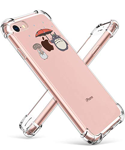 Allsky Case for iPhone 6/6s Plus 5.5',Clear Cartoon Design Pattern Soft Cute Fun Cool Ultra-Thin Cover,Kawaii Kids Girls Teens Animal Skin Creative Shockproof Funny.Cases for iPhone 6/6s Plus Totoro
