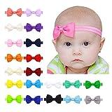 20 colores Diademas Bebe Nia,Diademas Elsticas para nias,Bowknot Mini...