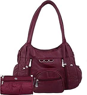 Bellina Women's Shoulder bag & wallet (Maroon)