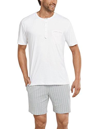 Schiesser Herren Schlafanzughose Anzug Kurz, Weiß (Off-White 102), Medium (Herstellergröße 050)