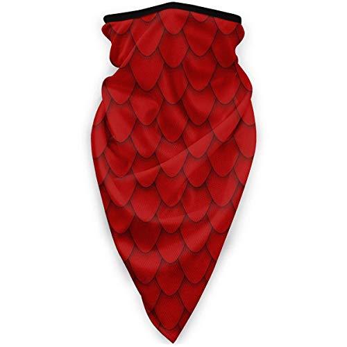 Lichtion Maschera per Il Viso Passamontagna Maschera a Tubo con Turbante Caldo Red Dragon Unisex Windproof