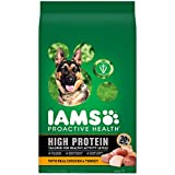 IAMS PROACTIVE HEALTH High Protein Adult Dry Dog Food with Real Chicken and Turkey Dog Kibble, 22 lb. Bag