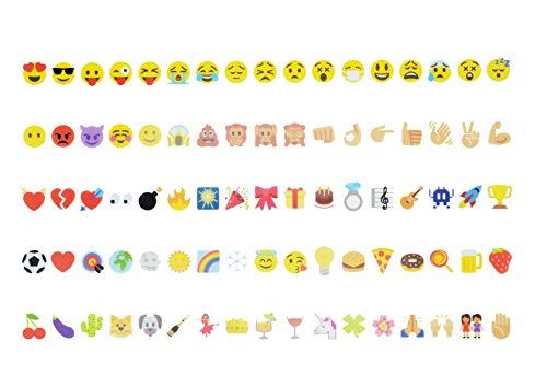 Pack complementario de 85 Emoticonos Decorativos EN COLOR para Lightbox A4, A3 y A5. Decora tu Cartel Cinematográfico con Emojis Adicionales. (No Incluye Caja de Luz)