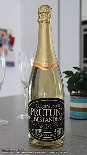 """""""Prüfung bestanden"""" Aufkleber Flaschenetikett Etikett oval gold elegant"""