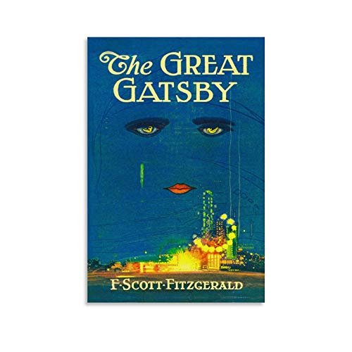 Art Deco The Great Gatsby Book Art Cool Poster Art Prints Wall Painting Artworks Posters Hanging Picture Gift Bedroom Home Decor 12x18inch(30x45cm)