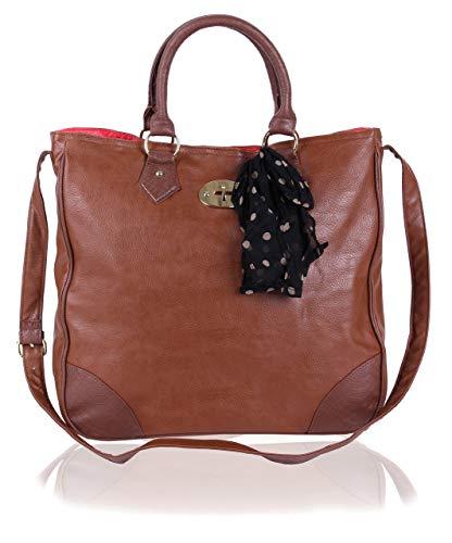 Primark - Bolso de tela para mujer marrón marrón xx-large