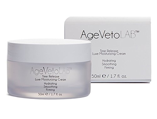 Anti Aging Face Day and Night Cream Time Release Moisturizer Hyaluronic Acid, Retinol, Encapsulated Peptides Vitamins, Dip Hydration by AgeVeto 50 Ml