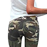 Minetom Pantalon Militaire Motif Camouflage,Overdose Femme Imprimé Casual Loose Taille Haute Trousers B Vert FR 42