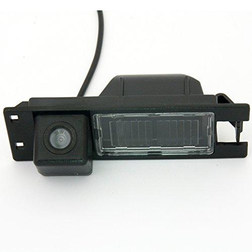 Navinio Telecamere posteriori in luce targa ( NTSC ) Nero per Astra H/Corsa D/Meriva A/Vectra C/Zafira B,FIAT Grande Punto Meriva