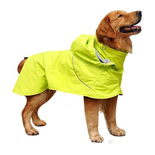 Yue668 Large Dog Retriever Mit Kapuze Beine Wasserdicht Regenfest Haustier Großer Hund Regenmantel Kleidung Overalls Mantel Regencape Regenjacke (XL)