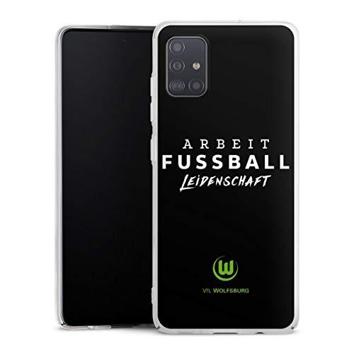 DeinDesign Hülle kompatibel mit Samsung Galaxy A51 Handyhülle Case VFL Wolfsburg Offizielles Lizenzprodukt Statement