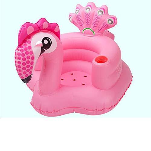 AA100 Kinder Doppel aufblasbaren Pool Wasserspielzeug schwimmendes Bett Meer Liegetier Wasserbett + eingebaute Luftpumpe,Pink