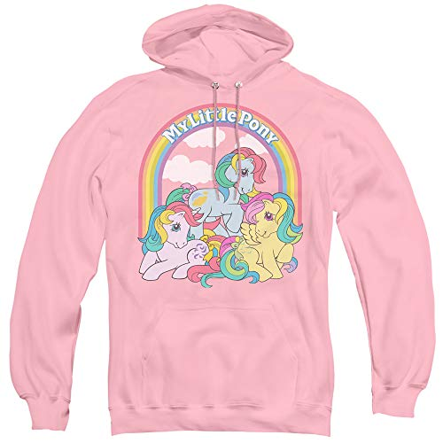 Adults Pink My Little Pony 80s Hoodie, S to 3XL