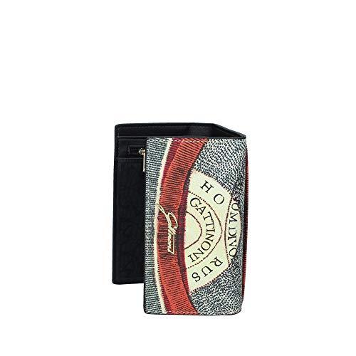 Portafoglio da donna Gattinoni Planetario M Flap colore Classic/Black - Diana/Brown (Classic/Black)