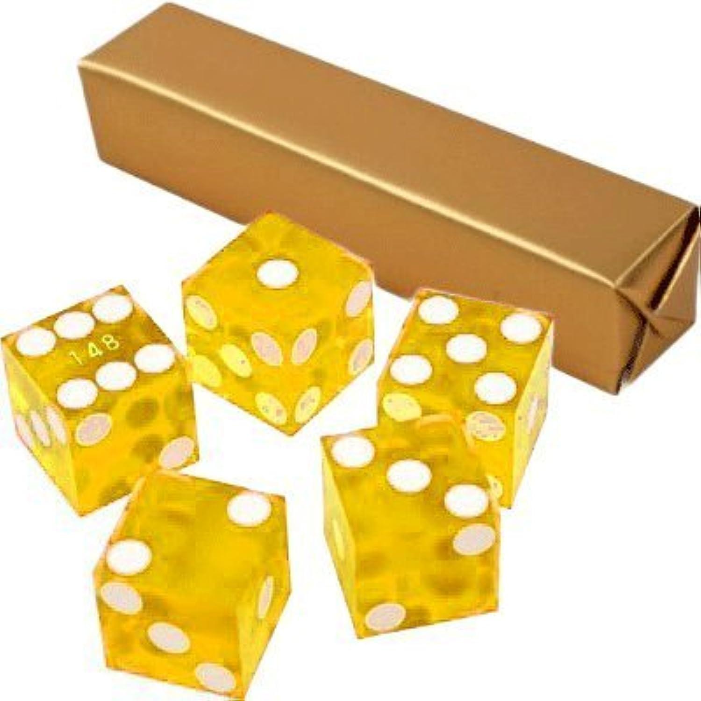 tienda de venta en línea Set of 5 amarillo 19mm Transparent Casino Dice - - - Serialized by Marion  varios tamaños