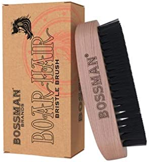 BOSSMAN'S HAND HELD BOAR & NYLON BRISTLE BRUSH