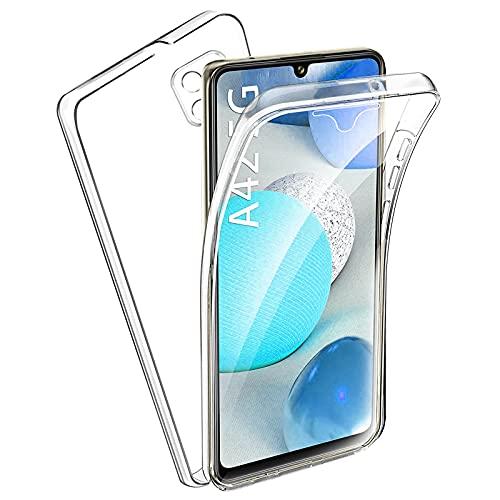 TBOC Funda Compatible con Samsung Galaxy A42 5G [6.6'] - Carcasa [Transparente] Completa [Silicona TPU] Doble Cara [360 Grados] Protección Integral Delantera Trasera Lateral Móvil