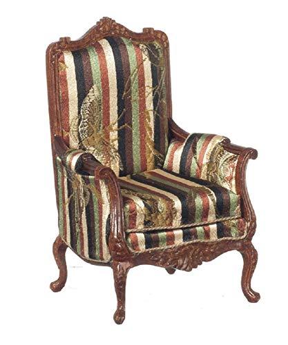 Melody Jane Casa de Muñecas Victoriano Sillón Nogal Miniatura Calidad Muebles de Salón