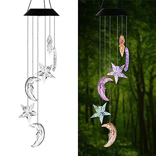 horen Draagbare van kleur veranderende spiraal fijnafstelling Windgong Led-lamp, Solar Led Outdoor Decoration Windgong Lamp, Zeer geschikt voor binnen/buiten/decoratie