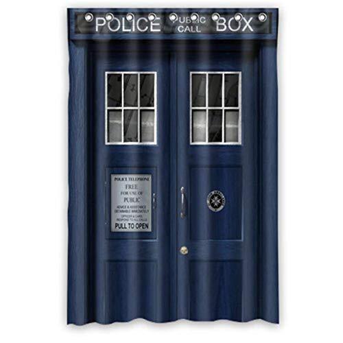 CHENHAO Duschvorhang Mit Ring, wasserdicht, Mehltau, Badezimmer, Custom Doctor Who Tardis Der Doktor s 150x180cm