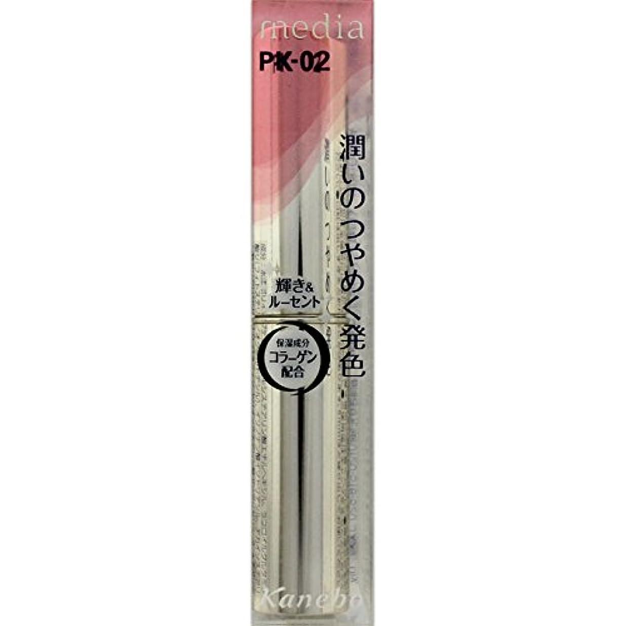 評議会情緒的磁器カネボウ メディア(media)シャイニーエッセンスリップA カラー:PK-02