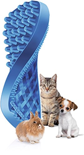 ペットアンドミー『pet+meラバーブラシソフト・短毛用』