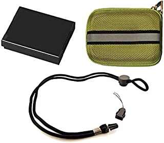 Stuff I Need Package for Olympus Stylus VG-190 Digital Camera - Includes: Li-50B High Capacity Replacement Battery + Deluxe Hard Shell Padded Case + Neck Strap