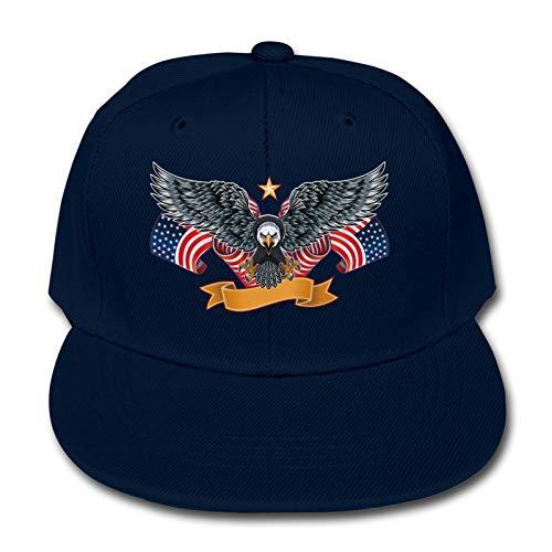 Bald Hawk Amerikanische Flagge Kinder Tier Bauernhof Quick Buckle Hut Baseball Cap Hip Hop Cap