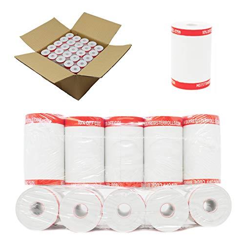 (50 Coreless) 2 1/4 x 50 Thermal Paper Rolls - Credit Card Receipt Paper Rolls 2.25 x 50 ft - RegisterRoll