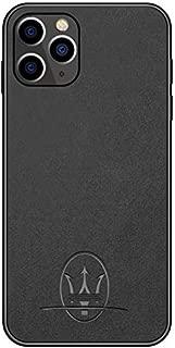 iPhone 11 pro max Case Luxury Car Maserati Logo Super Slim Leather Case (iPhone 11)