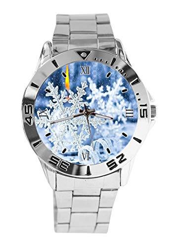 Reloj de Pulsera analógico de Cuarzo con diseño de Vela de Nieve...