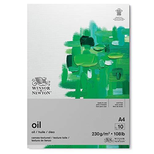 Winsor & Newton 6532006 Ölmalpapier im Block - 10 Blatt DIN A4, 230g/m², Säurefrei, ohne optische Aufheller, Alterungsbeständig für Ölfarben, Ölpastelle und andere schwere Farbaufträge