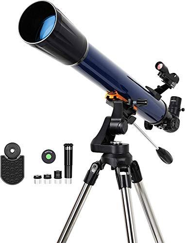 ESSLNB Teleskop Sterne 525X Vergrößerung Fernrohr Teleskop Kinder Einsteiger mit Smartphone Adapter Stativ Mondfilter