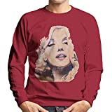VINTRO Marilyn Monroe - Felpa da uomo con stampa professionale Red Hot Chilli XL