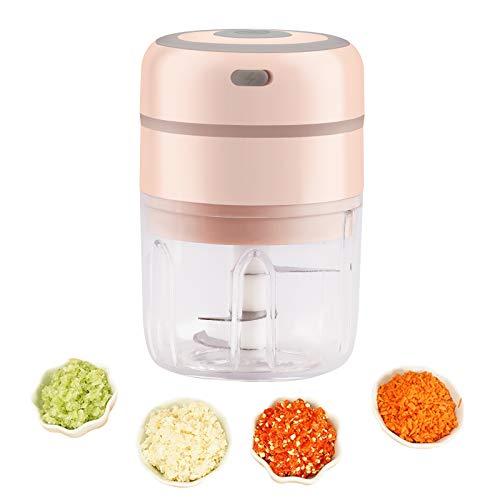 JZK Rosa 250ml mini procesador alimentos eléctrico trituradora para carne ajo cebolla...