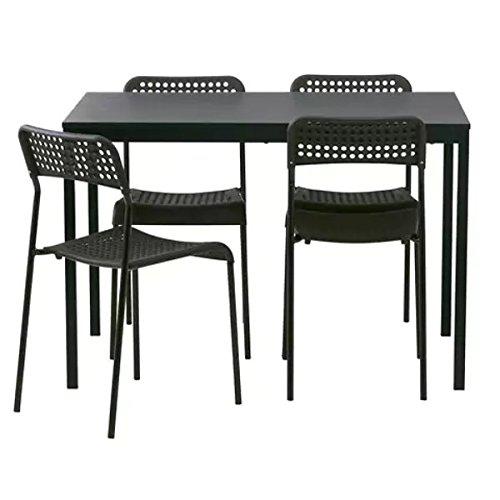 TÄRENDÖ IKEA Tisch und 4 ADDE Stühle in schwarz