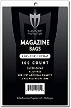 MAX PRO 100 Premium Magazine Bags and Backer Boards - -Acid Free - Archival Protection for Your Magazine Collection