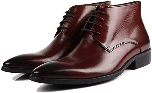 JCZR Herren High-Top-Schuhe Einfache Und Bequeme Schnürstiefeletten
