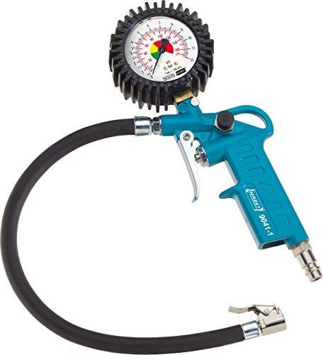 HAZET Reifenfüll-Messgerät (Manometer-Messbereich 0-12 bar, Schlauchlänge 400 mm, Manometer-Durchmesser: 63 mm) 9041-1