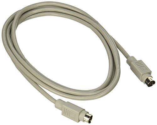 C2G/Cables To Go C2G 02316 8-Pin Mini-DIN M/M Serial RS232 Cable, Beige (6 Feet, 1.82 Meters), Black